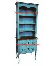Bookcase Tall Open 2 Drawer BBA Finish