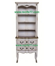 Bookcase Tall Open 2 Drawer BGA Finish