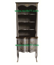 Bookcase Tall Open 2 Drawer GRA Finish
