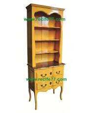 Bookcase Tall Open 2 Drawer YLA Finish