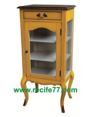Cabinet Glass Door 1 Drawer 120 YLA Finish (M)