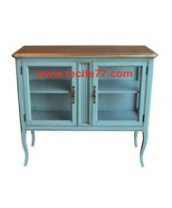 Console 2 Glass Door 2 Shelves BBA Finish