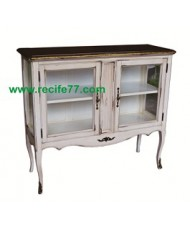 Console 2 Glass Door 2 Shelves BGA Finish