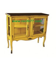 Console 2 Glass Door 2 Shelves YLA Finish