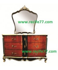 Hera Series Chest 3 Drawer with Mirror